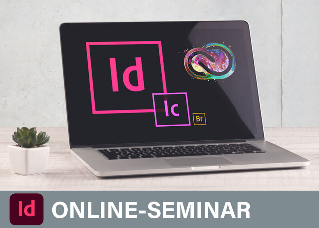 Computerbild mit Online Seminare InDesign